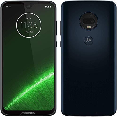 Motorola Moto G7 Plus - Smartphone Android 9, Pantalla 6.2'' FHD+ MAX Vision, Cámara Trasera 16MP con Estabilizador, Cámara Selfie 12MP, 4GB RAM, 64 GB, Dual SIM, Azul Índigo