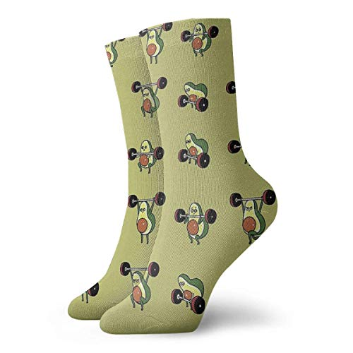 NZYH Olympic Lifting Aguacate Calcetines Calcetines casuales Calcetines deportivos Calcetines de trabajo divertidos Unisex 11.8 pulgadas