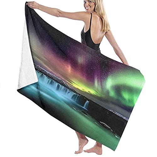 TISAGUER Toalla de baño de Microfibra La Cascada Aurora Ful Suave Absorbente Hoja de baño de para el hogar,los baños,la Piscina Toallas Baño Toalla de Playa