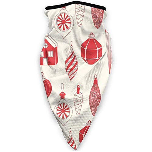 yyndw Neck Warmer Christmas Ornaments 1 Neck Gaiter Warmer Sports Outdoors Breathable 24X51Cm Work Durable Bandanas Unisex Headwear Lightweight Multifunctiona Colorful Printed