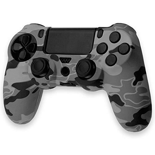 OcioDual Funda de Silicona Carcasa para Mando Sony PS4 PlayStation 4 Slim Pro Dualshock 4 Camuflaje Gris