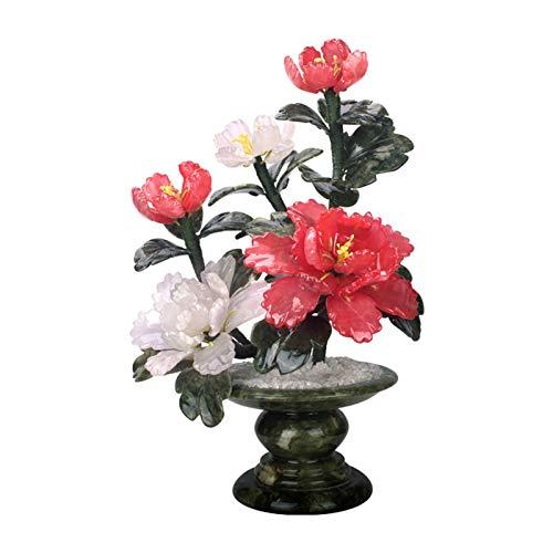 Xu Yuan Jia-Shop Bonsai Decorative Faux Potted Plant Peony Flower Artificial Bonsai Pequeñas Plantas Artificiales Bonsai Árboles Apertura de Negocios Zen Jardín Decoración Bonsai Tree