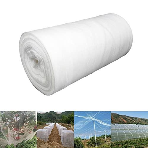 Souarts, zanzariera per piante, verdura, frutta e insetti, in tessuto, colore bianco, 3mx15m