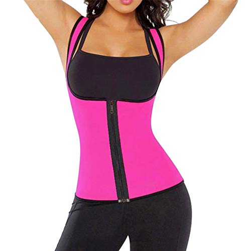 Aoile wetsuit voor vrouwen met taillegeleider, verwarmend korset, gewichtloos, roze, per meter