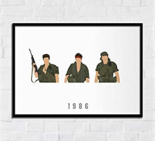 Lee Tee Platoon Year 1986 Movie Poster Gifts for Fan Poster Home Art Wall Posters [No Framed]