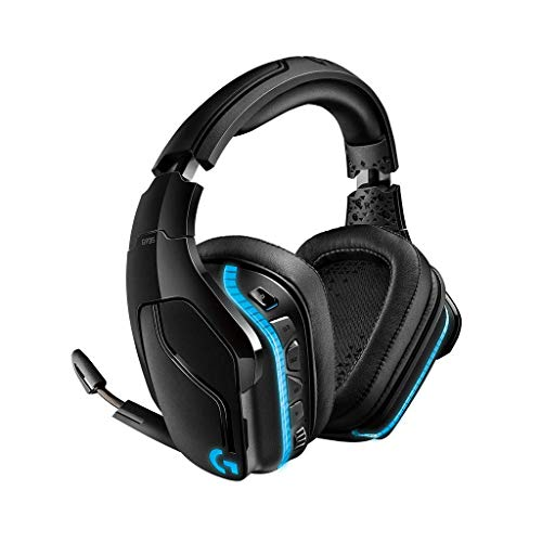 Logitech G935 Wireless RGB Gaming-Headset, 7.1 Surround Sound, DTS Headphone:X 2.0, 50 mm Treiber, 2.4 GHz Kabellos, Flip-Stummschaltung, PC/Mac/Xbox One/PS4/Nintendo Switch - schwarz