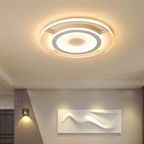 Living Equipment Ceiling Lamp Led 53CM Round Ceiling Lamp Acrylic Ceiling Light Fitting 43CM 6500K Bedroom Lamp Living Room 3000K Dimmable Dining Table Kitchen Chandelier Iron Lamps 3000K 43CM/43W