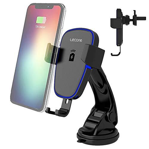 Wireless Charger Auto Handyhalterung, Lecone 10W Kfz-Handyhalterung mit Lüftungs & Saugnapfshalterung für iPhone 11, 11 Pro, 11 Pro Max, XS Max, XS, XR, X, 10W for Galaxy S10 S9 S8, Note 10 Note 9