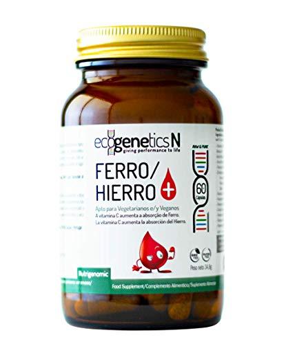 Ecogenetis Hierro + - Combatir la anemia - Músculos y Perfromance - 60 Caps.