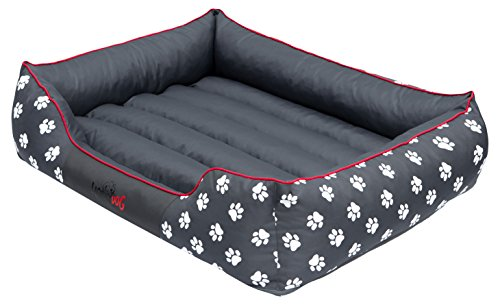 Hobbydog - Cama para Perro, Gris (Con Patas), XL (82x62x24 cm)