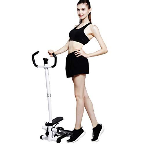 Home Gym Step Machine Fitness Stepper | Stepper per scale multifunzione con bracciolo muto per uso domestico | Allenamento cardio indoor Allenamento Fitness Esercizio sportivo Corpo Perdere peso