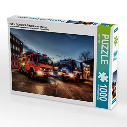 CALVENDO Puzzle HLF u GKW (BF & THW Braunschweig) 1000 Teile Lege-Größe 64 x 48 cm Foto-Puzzle Bild von Markus Will