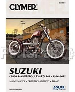 Clymer Manuals M3844 Suzuki Savage Ls650 Motorcycle Repair Service Manual