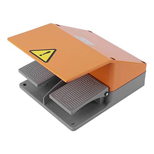 Interruptor de pie YDT1-15, controlador de pedal de alta sensibilidad de 380 VCA/10 A, interruptor de pie de servicio pesado, interruptor de pedal antideslizante, para taladros de columna,