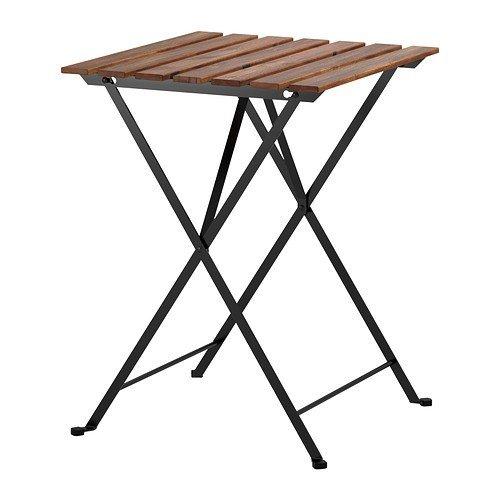 "Ikea""tärnö Folding Garden Table in Solid Acacia and Steel"