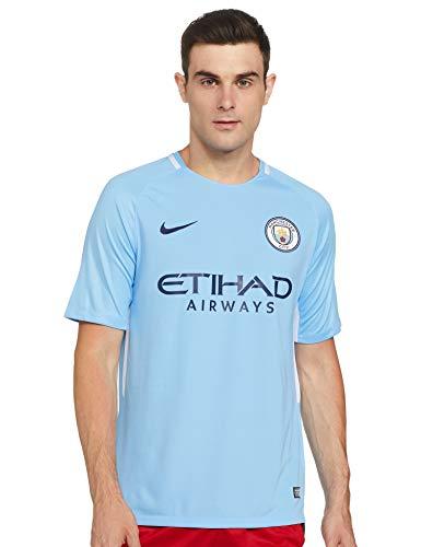 NIKE Breathe Stadium SS Home Camiseta 1ª equipación Manchester City FC réplica 17-18, Hombre, Azul (Field Blue/Midnight Navy), 2XL