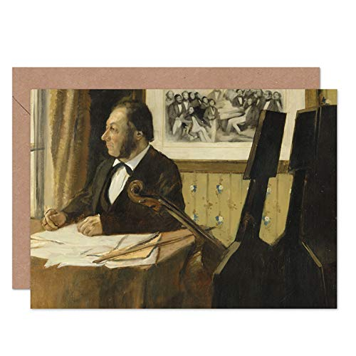 Edgar Degas The Cellist Pilet Fine Art Greeting Card Plus Envelope Blank Inside