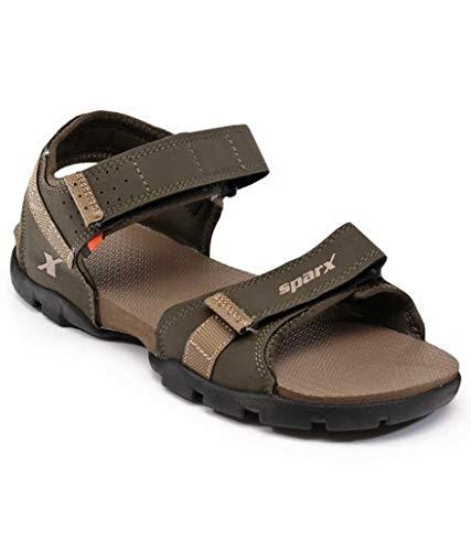 Sparx Fashionable & Trending Sandals SS-109G Olive Camel UK-8