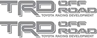 Toyota TRD Off Road 4x4 Compatible with Toyota Tacoma Tundra Silver Decal
