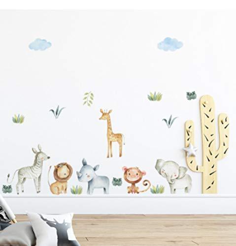 vinilos de pared decorativos Dibujos animados animal buddy pegatinas de pared habitación de los niños decoración del hogar murales papel tapiz desmontable dormitorio kindergarten pegatinas de fondo