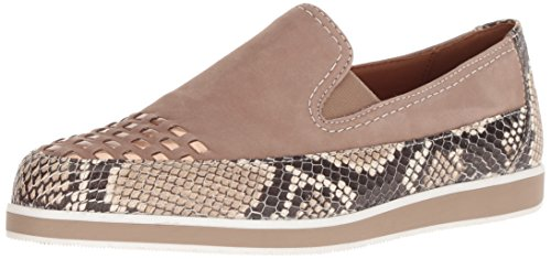 ARA Women's Laurel Loafer Flat, Taupe Snake Combo, 5 M UK (7.5 US)