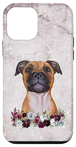 iPhone 12 mini Staffordshire Bull Terrier Floral Staffy Dog Case