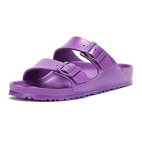 Birkenstock Arizona EVA Sandales pour femme Violet foncé - Violet - Design15, 37.5 EU