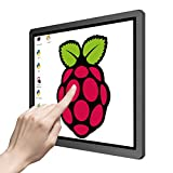 Touchscreen Portable Monitor, 12.3 Inch 1600x1200 4:3 IPS for HD/VGA/DVI Input Industrial Equipment,10 Point Touch Computer Display Speaker VESA for Raspberry Pi TV Box PS4 Xbox Laptop Phone Mac