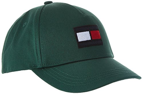 Tommy Hilfiger Unisex Big Flag Baseball Cap, Grün (Hunter Green 340), Medium (Herstellergröße: S-M)