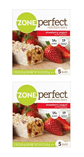 Zone Perfect Nutrition Bars Strawberry Yogurt 1.76oz 5 Bars (2 Pack)