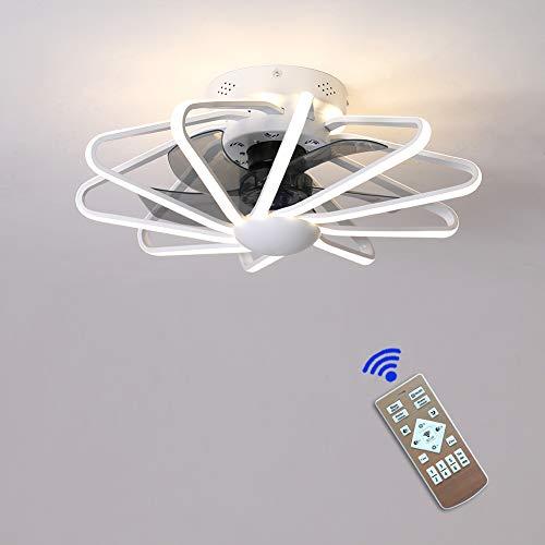 Moderna 160W LED Ventilador De Techo Con Lámpara,Con Mando A Distancia Regulable...