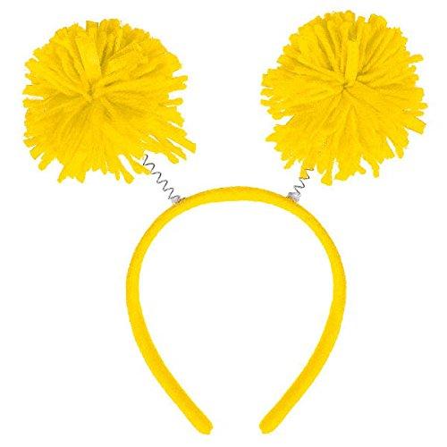 Amscan Pom Pom Headbopper, Party Accessory, Yellow
