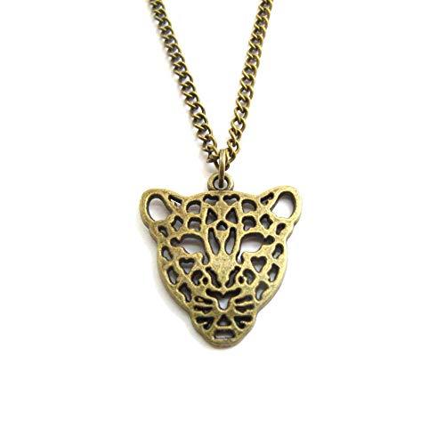 Collar de guepardo, regalo de guepardo, joyería de guepardo, amante de las guepardas, regalo de safari, collar de safari, collar de plata, amante de los animales (bronce #1)