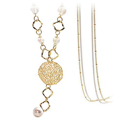 Damenketten Pullover Halskette Dekorative Pullover Kette lange Lanyard einfache hohle Halskette Anhänger Anhänger Kleidung Zubehör