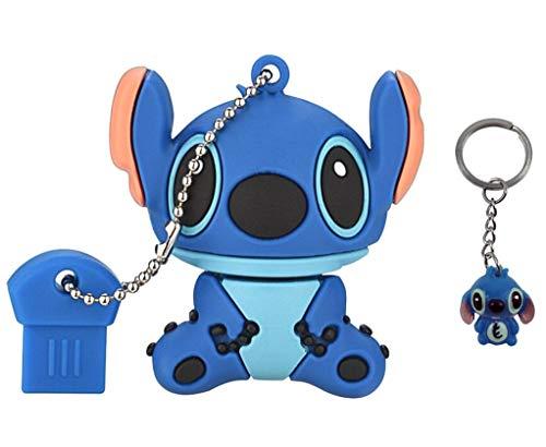 LYNNEO | Clé USB Personnage animé Bleu 128 Go avec Un Porte-Clés. Idéal comme Cadeau Fantaisie, Fun et Original. Memory Stick Flash Drive