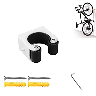 Kiiper Bike Clip, Indoor Outdoor Bicycle Wall-Mount Storage Rack System for Mountain Bike & Road Bike, Easy Install Bicycle Display Stands (Black, Road Bike)