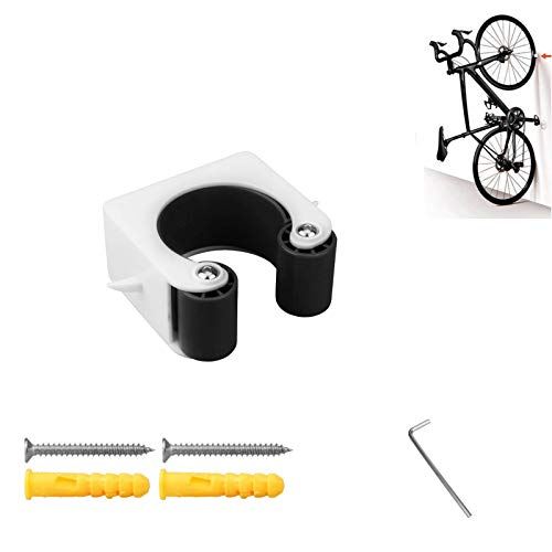 Kiiper Bike Clip, Indoor Outdoor Bicycle Wall-Mount Storage Rack System for Mountain Bike & Road Bike, Easy Install Bicycle Display Stands (Black, MTB)