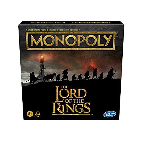 Monopoly: The Lord of The Rings - Juego de Mesa Inspirado en la trilogía cinematográfica - Juega como Miembro de la Comunidad - Edad: 8+