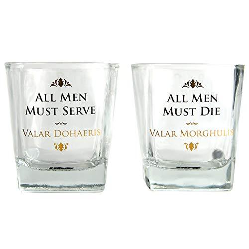 Game of Thrones Whiskeygläser im 2er Set - Whiskyglas Whiskey Tumbler Whisky Tumbler