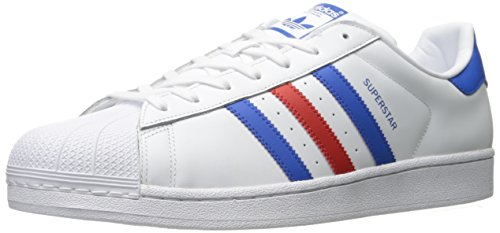 adidas Superstar, Zapatillas Hombre, Blanco, Azul y Rojo, 38 EU