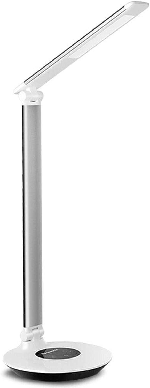 Augenschutz Tischlampe HX Land A-Level Augenschutz Tisch LED-Licht USB-Ladestation Studiertisch Schlafsaal Schlafplatz Leselampe Einstellbare Office-Studie Augenschutz Tischlampe (Farbe   Blau)