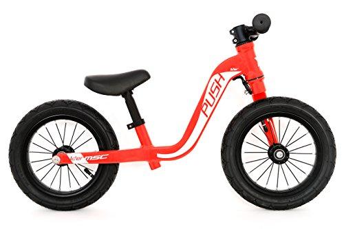 MSC Bikes Push Bicicleta Infantil, Unisex niños, Rojo, 12