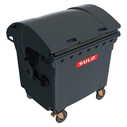 Sulo Müllcontainer 1100 Liter Original MGB GRAU mit Runddeckel Mülltonne Restmüll