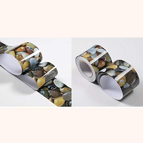 Cenefa de papel pintado impermeable, adhesivo extraíble, para cocina, baño, salón, azulejos, 12 x 1000 cm