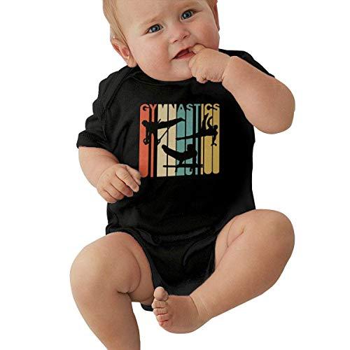 90ioup Vintage Style Gymnastics Baby Short Sleeve Newborn Boys Girls Creeper Jumpsuit Romper Bodysuit