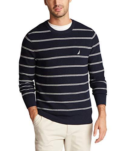 Nautica Men's Navtech Crewneck Sweater, Navy, Large