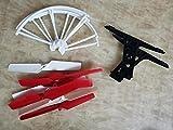 Eddwiin per JXD 509W RC Quadcopter Pezzi di Ricambio scocca Motore Scheda di Ricezione Telecomando Anello di Protezione Lama Set Telecamera per Carrello di atterraggio ( Color : 1 Set Parts )