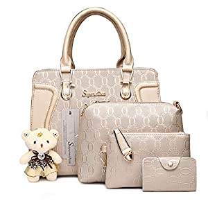 Soperwillton Handbag 4pcs Purse Set