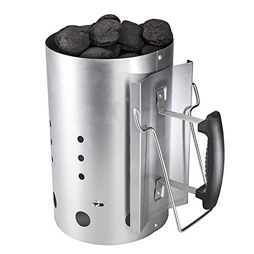GriHero Barbacoa Chimenea de arranque, parrilla de carbón de leña para barbacoa de arranque rápido, accesorios compatibles con Weber 7416 y otras parrillas de carbón de leña