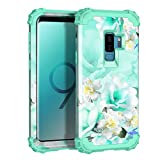 Casetego Compatible with Galaxy S9 Plus Case,Floral Three Layer...